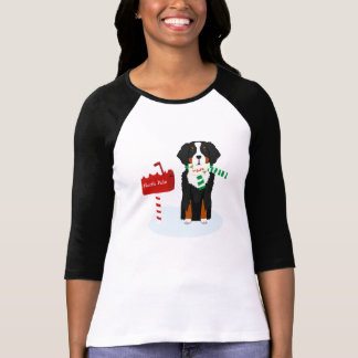 Christmas Bernese Mt Dog Letter To Santa T-Shirt