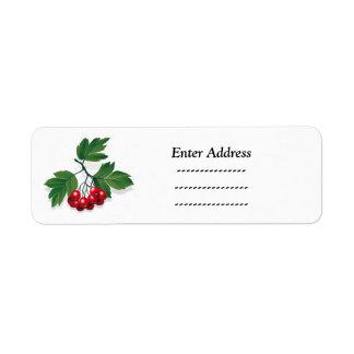 Christmas berries address label Sticker