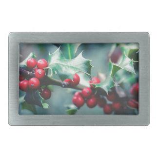 Christmas berries belt buckles