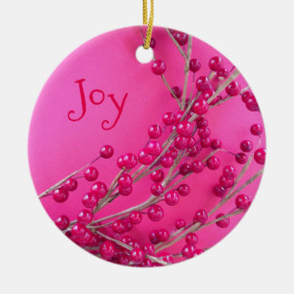 Christmas Berries Holiday Joy Gift Ornament