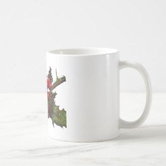 Christmas: Berries, Holly, Pine Cones: Art Coffee Mugs