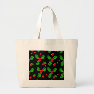 Christmas  berries large tote bag