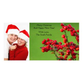 Christmas Berries Photo Greeting Card