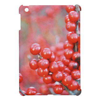 Christmas berries red iPad mini cases