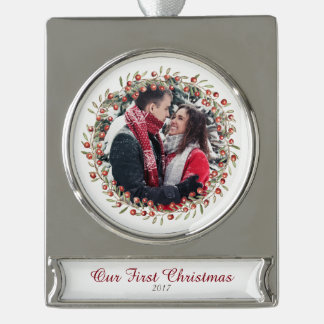 Christmas Berry Wreath | Commemorative Ornament