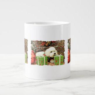 Christmas - Bichon Frise - Cooper Large Coffee Mug