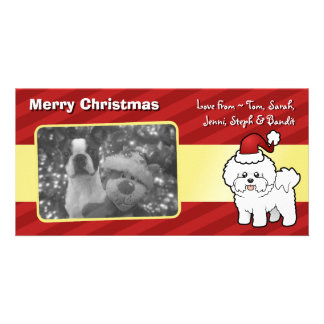 Christmas Bichon Frise Photo Card Template