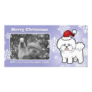 Christmas Bichon Frise Photo Cards