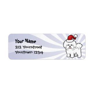 Christmas Bichon Frise Return Address Label
