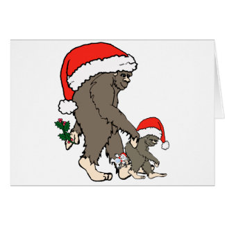 Christmas Bigfoot Family Card
