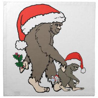 Christmas Bigfoot Family Napkin