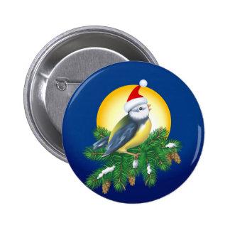 Christmas Bird Pinback Buttons