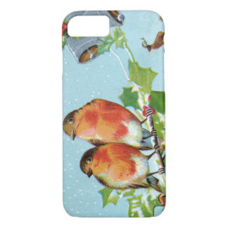 Christmas Bird Songbird Holly Snow Reindeer Bell iPhone 7 Case