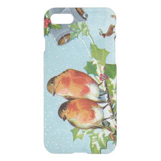 Christmas Bird Songbird Holly Snow Reindeer Bell iPhone 7 Case