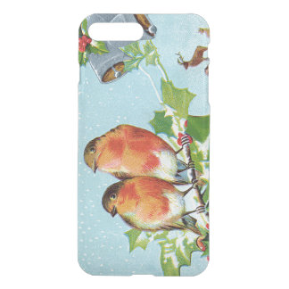 Christmas Bird Songbird Holly Snow Reindeer Bell iPhone 7 Plus Case