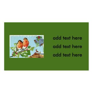 Christmas Bird Songbird Holly Snow Reindeer Bell Pack Of Standard Business Cards