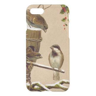 Christmas Bird Sparrow Birdhouse Holly iPhone 7 Case