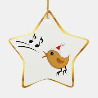 Christmas Bird Star Tree Ornament