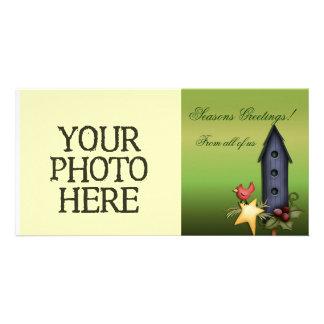 Christmas Birdhouse Photo Card