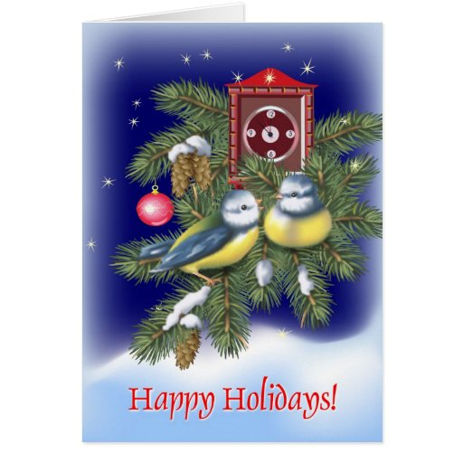 Christmas Birds Card