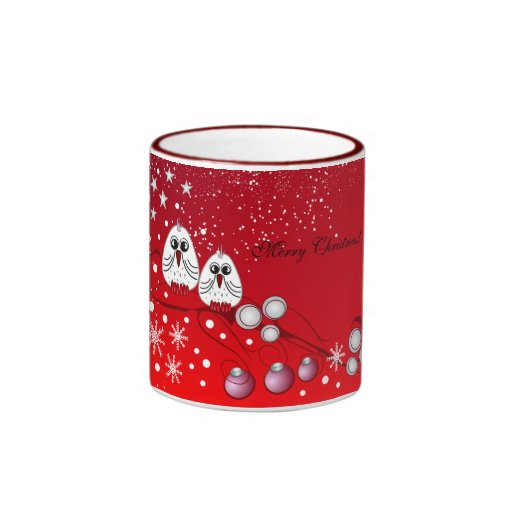 Christmas birds mug