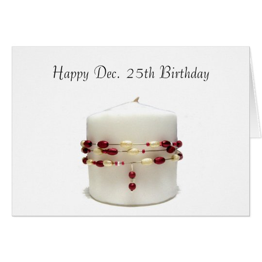 Christmas Birthday Candle Card
