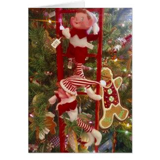 CHRISTMAS BIRTHDAY OR DECEMBER BIRTHDAY GREETING CARD