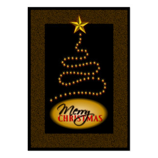 Christmas Black and Gold Gift Tags Business Card Templates