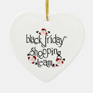 Christmas Black Friday shopping Team Ceramic Ornament