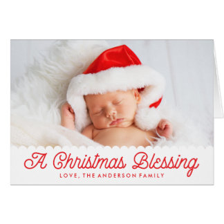 Christmas Blessing | Folded Holiday Photo Card