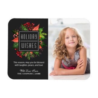 Christmas Blessing Happy Holiday Family Kids Photo Rectangular Photo Magnet
