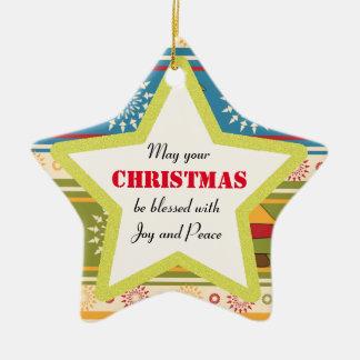 Christmas Blessing Joy Star Ornament