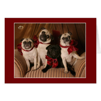 Christmas Blessing Pug Mug Card