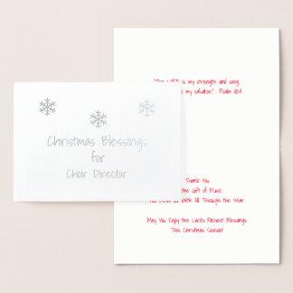 Christmas Blessings Choir Director Foil Card