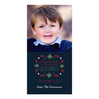 Christmas Blessings Customised Photo Card