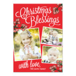 Christmas Blessings Holiday Photo Cards 13 Cm X 18 Cm Invitation Card