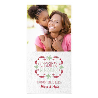 Christmas Blessings Photo Card