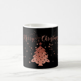 Christmas Bling Pink and Black Coffee Mug