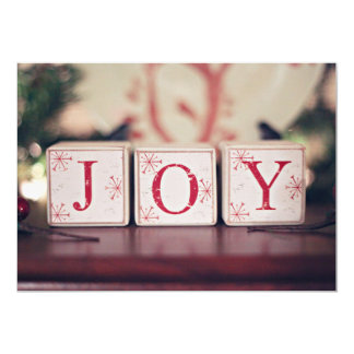 Christmas blocks with words JOY 13 Cm X 18 Cm Invitation Card