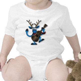 Christmas Blue Reindeer Dancing Bodysuits