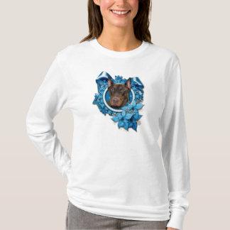 Christmas - Blue Snowflake - Doberman - Rocky T-Shirt