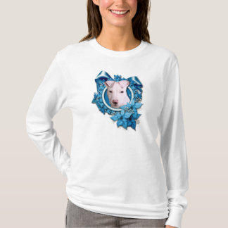 Christmas - Blue Snowflake - Pitbull - Petey T-Shirt