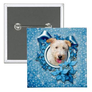 Christmas - Blue Snowflake Wire Fox Terrier Hailey Pin