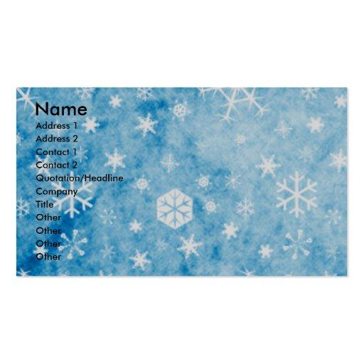 Christmas - Blue Snowflakes - Siberian Husky Business Card Template