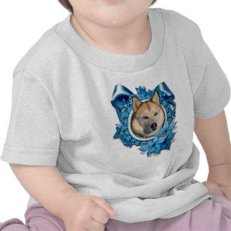 Christmas - Blue Snowflakes - Siberian Husky Tee Shirt