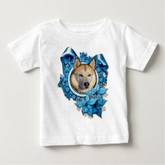 Christmas - Blue Snowflakes - Siberian Husky T Shirts