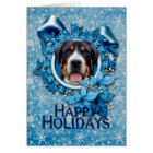 Christmas - Blue Snowflakes - Swiss Mountain Dog Card