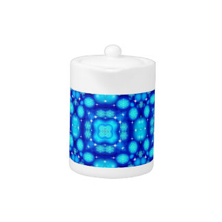 Christmas blue white snowflake pattern