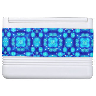 Christmas blue white snowflake pattern cooler