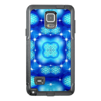 Christmas blue white snowflake pattern OtterBox samsung note 4 case